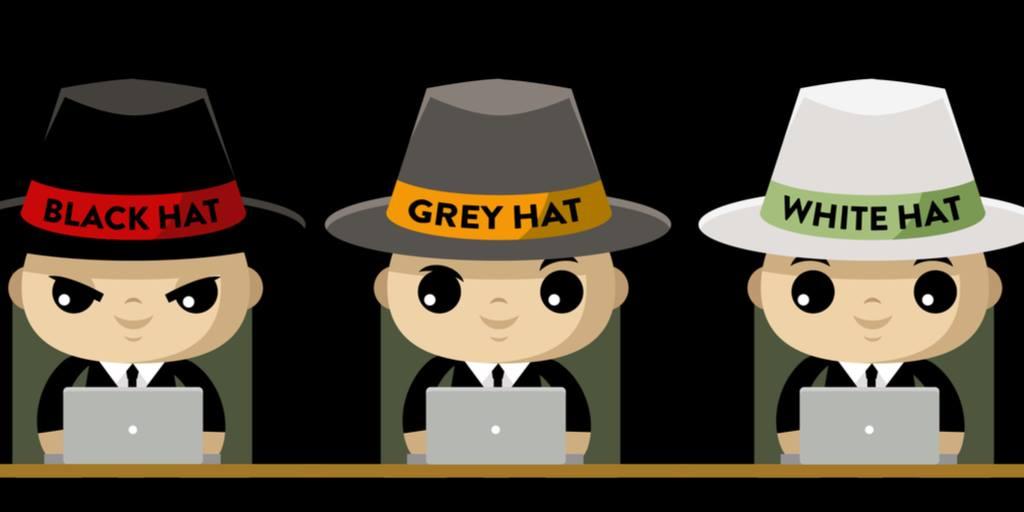 hacker mũ trắng, hacker mũ xám, hacker mũ đen
