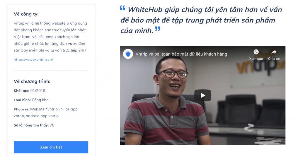 Case Study VNtrip Pentest với WhiteHub