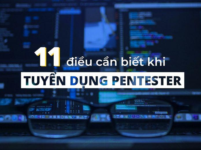 Checklist tuyển dụng Pentester